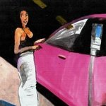 street walker pink car By Harry Weisburd