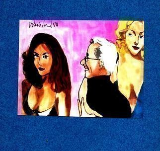 Harry Weisburd: 'the other woman', 2018 Watercolor, Figurative. Artist Description: Man looking at other woman  another woman jealous...