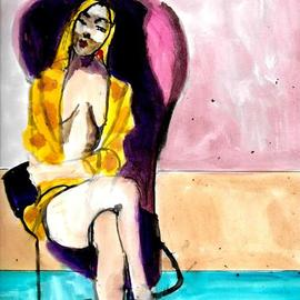 woman in violet chair By Harry Weisburd
