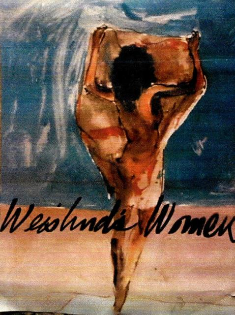 Harry Weisburd  'Woman On The Beach 2 Poster', created in 2003, Original Pottery.
