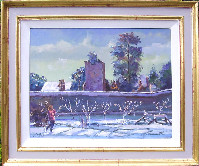 David Welsh  'Apple Trees In The Snow', created in 2011, Original Painting Oil.