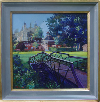 Artist: David Welsh - Title: College Chapel from Luxmoores Garden - Medium: Oil Painting - Year: 2013