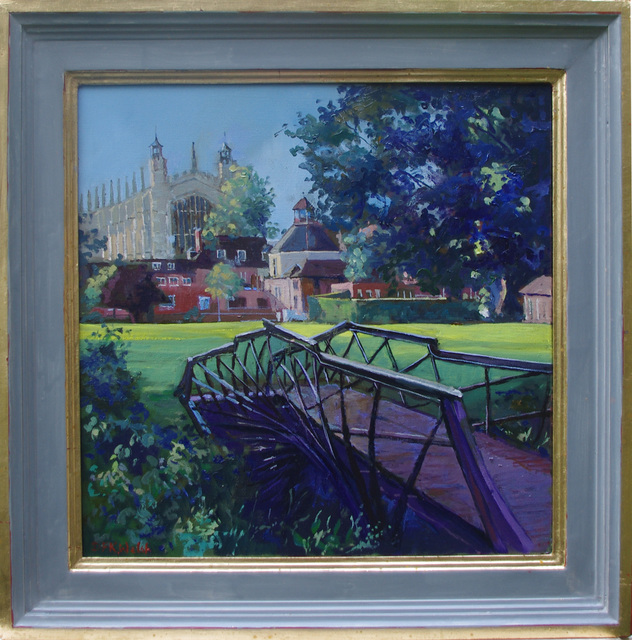 Artist David Welsh. 'College Chapel From Luxmoores Garden' Artwork Image, Created in 2013, Original Painting Oil. #art #artist