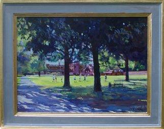Artist: David Welsh - Title: College Field, Eton - Medium: Oil Painting - Year: 2013