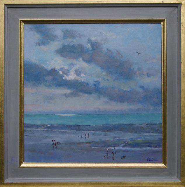 David Welsh  'Evening, Old Hunstanton Beach', created in 2013, Original Painting Oil.