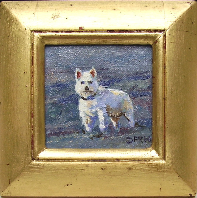 David Welsh  'One Westie', created in 2013, Original Painting Oil.
