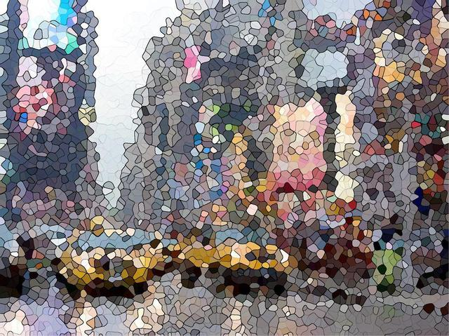 Wendel Johnston  'July In NYC', created in 2012, Original Printmaking Giclee - Open Edition.