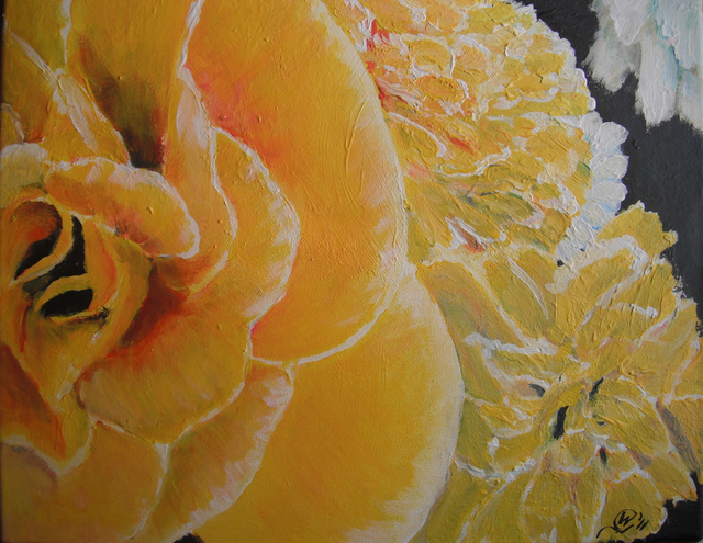 Wendy Goerl  'In A Yellow And White Bouquet', created in 2011, Original Watercolor.