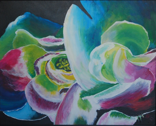 Wendy Goerl  'Rainbow Roses', created in 2012, Original Watercolor.