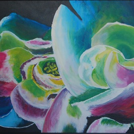 Wendy Goerl Artwork Rainbow Roses, 2012 Acrylic Painting, Floral