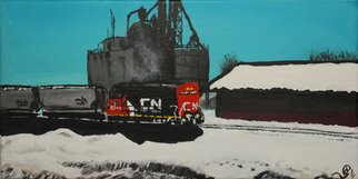 Wendy Goerl Artwork Winter Warmup, 2011 Acrylic Painting, Trains