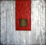 Artist: Wenli Liu - Title: China Red 2  - Medium: Acrylic Painting - Year: 2007