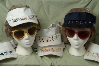 Undefined Medium by Louise Peacock titled: Painted Sun Visors, 2010