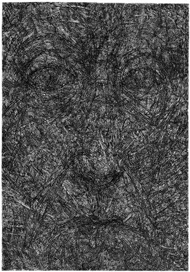 Wieslaw Haladaj: 'APPEARANCE23', 2013 Linoleum Cut, Abstract Figurative. Artist Description:           BLACK AND WHITE          ...