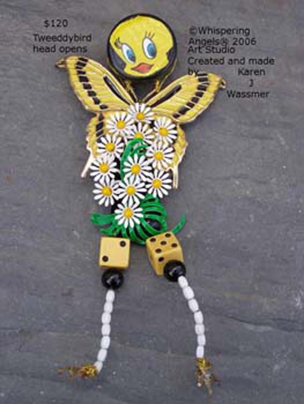 Karen Wassmer, Art Doll Pins Wearable Art