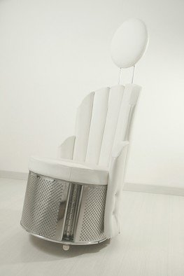 Federica Ripani: 'OSCILLAZIONE', 2009 Furniture, Other. Artist Description: steel, wood, leather, plastic. ...