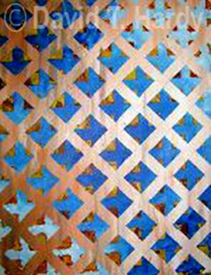 Acrylic Painting by David Hardy titled: Blue Lattice, 2010
