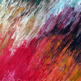 David Hardy Artwork Flaming Fields, 2010 Acrylic Painting, Abstract