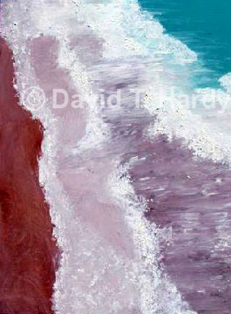 David Hardy  'Hawaii Beach', created in 2010, Original Painting Acrylic.