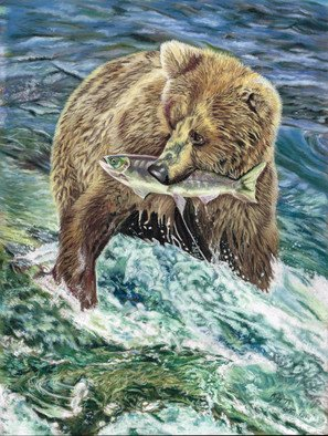 Karen Turner Artwork CATCH OF THE DAY, 2015 Pastel, Wildlife