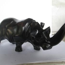 Rhinoceros made with ebony wood