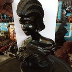 ebony woman statue of woman By Dimitri Sonkeng