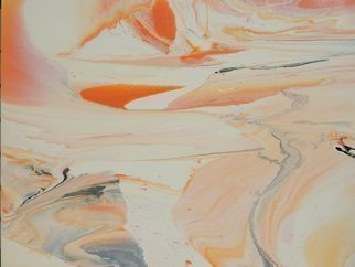 Will Birdwell: 'dreamscape', 2015 Oil Painting, Abstract. Artist Description: Serene abstract. Primary colors peach, black, gray, white, orange...