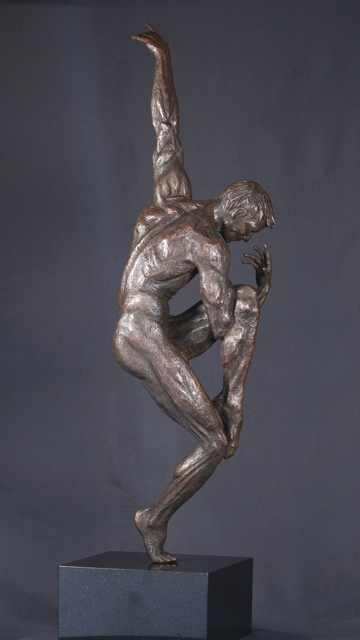 Willem Botha  'Benji The Dance Of Sorrow', created in 2019, Original Sculpture Bronze.