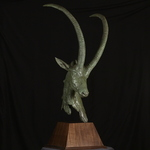 sable antelope bust By Willem Botha