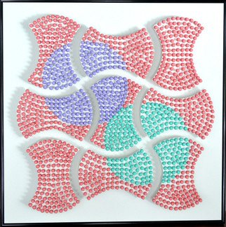 Will Hanlon: 'Apple Cores', 2013 Mixed Media Sculpture, Abstract. Artist Description:       3,000 Custom Painted Push Pins on Foam Board      ...
