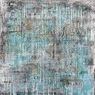 William Dick Artwork GLIMMER II, 2013 Encaustic Painting, Abstract