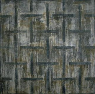 William Dick Artwork PEUCHLE, 1996 Encaustic Painting, Abstract