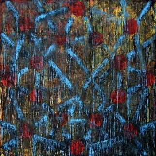 William Dick Artwork PUIL, 2010 Encaustic Painting, Abstract