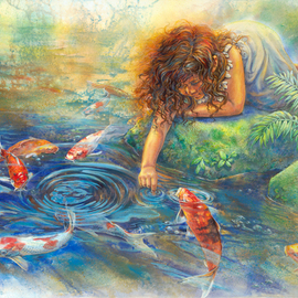 Deborah Wilson Artwork The Koi Whisperer, 2008 Giclee, Children