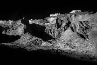 George Wilson: 'Norbeck Pass Badlands NP', 2016 Black and White Photograph, Landscape. Artist Description:  Infrared Black and White Landscape at Norbeck Pass, Badlands National Park, SD - printed on a 1/ 16 aluminum sheet and mounted with a metal easel or float mount so they are ready to display as soon as they arrive...