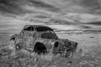 George Wilson: 'Out to Pasture', 2016 Black and White Photograph, Landscape. Artist Description:   Infrared Black and White Landscape at Conata Ghost Town, SD - printed on a 116 aluminum sheet and mounted with a metal easel or float mount so they are ready to display as soon as they arrive   ...
