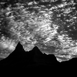 George Wilson: 'Vulture Peak Sunrise', 2016 Black and White Photograph, Landscape. Artist Description:     Infrared Black and White Landscape at Vulture Peak, Badlands NP, SD - printed on a 116 aluminum sheet and mounted with a metal easel or float mount so they are ready to display as soon as they arrive     ...