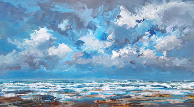 Wim Van De Wege  'North Sea Xl Series 2', created in 2019, Original Pastel Oil.