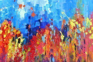 Wim Van De Wege: 'summercolors ii', 2017 Acrylic Painting, Abstract. Artist Description: A fantastic day with beautiful summercolors. The flowers bloom and the colors you smell almost . . . . . . It really enjoy  Beautiful hollyhocks were the starting point for this colorful abstract painting. I have quality paint used on thick canvas and features varnish.You receive a certificate of authenticity and a ...