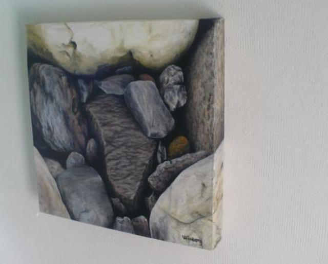 Peter Winberg  'Close Up Of Stones 2', created in 2009, Original Painting Other.