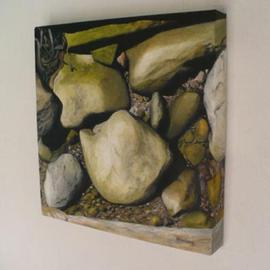 Peter Winberg: 'Close up of stones 3', 2009 Oil Painting, Still Life. Artist Description:  Motif from a photo taken by me ...