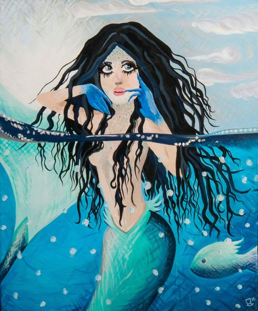 Bear Elle  'Call Of The Siren', created in 2016, Original Painting Acrylic.