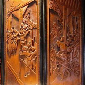 Jim Calder: 'calder doors', 2005 Wood Sculpture, Culture. Artist Description: the calder doors carved from solid black walnut...