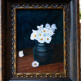 Wm. Kelly Bailey Artwork Daisies, 2011 Acrylic Painting, Floral