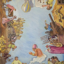 Wendy Lippincott: 'Bibliocracy', 2011 Oil Painting, Education. Artist Description:  Books, Illustration, Library                 ...