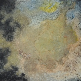 Wendy Lippincott Artwork Man Versus the Universe, 2015 Oil Painting, Astronomy