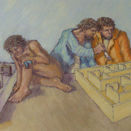 Wendy Lippincott: 'Psych 101', 2008 Oil Painting, Education. Artist Description:  Education Tome ...