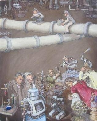 Wendy Lippincott: 'Short Circuit', 2013 Oil Painting, Science. Artist Description:    Evolution, Science        ...