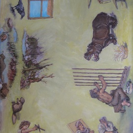 Wendy Lippincott: 'We Make Our Own Prisons', 2012 Oil Painting, Meditation. Artist Description:  Prison, Puppets, Jail   ...
