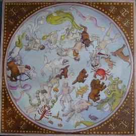 Wendy Lippincott: 'Zodiac', 2000 Oil Painting, Mythology. Artist Description: Northern Hemisphere Zodiac Constellations...